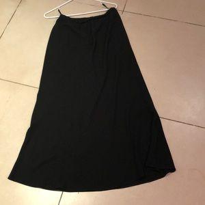Eileen Fisher 100% silk black skirt